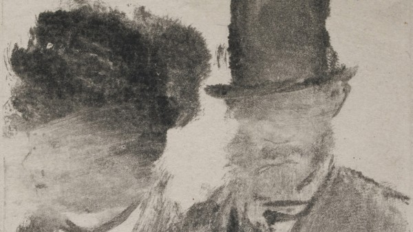 Edgar Degas (French, 1834–1917). Heads of a Man and a Woman (Homme et femme, en buste), c. 1877–80