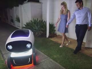 El robot repartidor de pizzas
