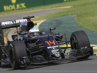 Alonso en su monoplaza