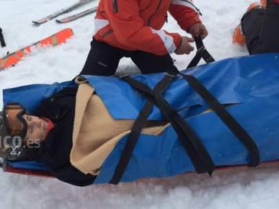 Mercedes Milá sufre un accidente de esquí