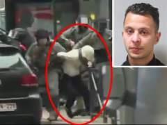 Momento de la detención de Salah Abdeslam