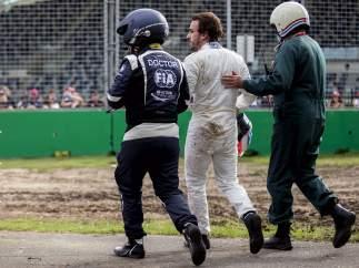Alonso, tras su accidente
