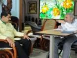 Nicolás Maduro y Fidel Castro en La Habana.