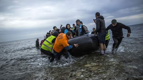 Refugiados en Lesbos