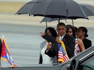 Obama llega a Cuba