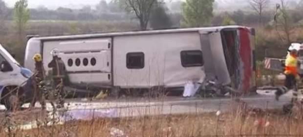Accidente de autobús en Freginals.