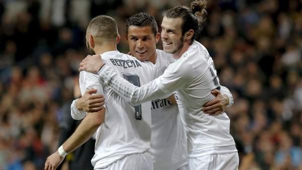 Cristiano, Bale y Benzema