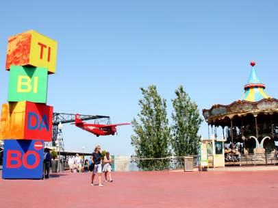 Imagen del parque de atracciones del Tibidabo de Barcelona.