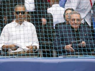 Obama ve el partido entre  Cuba y los Tampa Bay Rays