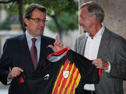Artur Mas y Cruyff