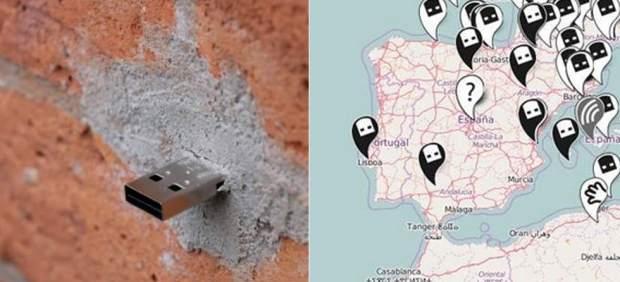 El mapa de los Dead Drops: miles de USB escondidos en paredes y edificios de todo el mundo
