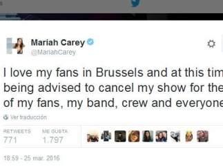 Tuit de Mariah Carey