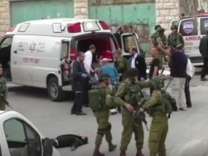 Imagen del palestino abatido por un militar israelí