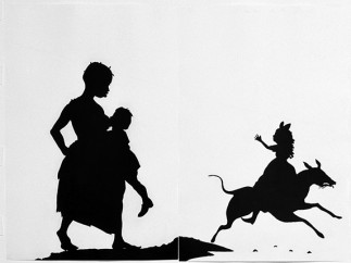 Kara Walker (b. 1969) - The Means to an End... A Shadow Drama in Five Acts, 1995