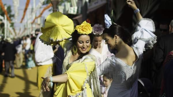 Sevillanas en la Feria de Abril