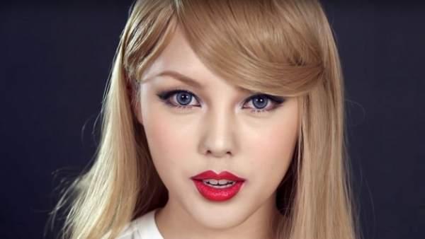 Una youtuber coreana crea un tutorial para transformarse en Taylor Swift
