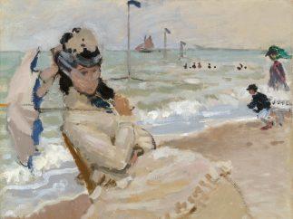 'Camille sur la plage à Trouville', 1870