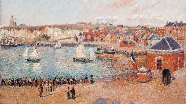 'Avant-port de Dieppe, après-midi, soleil', 1902
