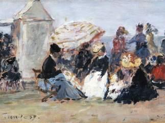 'Scène de plage à Trouville', 1869