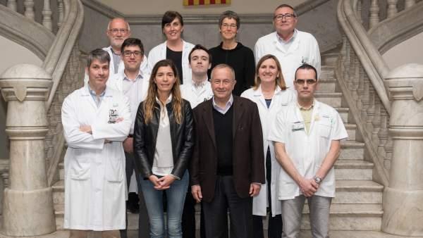 Equipo del Hospital Clínico que ha investigado la relación entre los trastornos de sueño y el Parkinson.