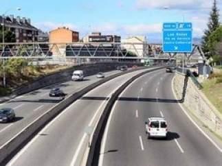 Kilómetro 18,2 de la A-6, en Las Rozas, Madrid.