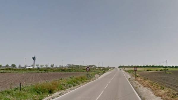 Carretera A-2078 a la altura de El Puerto de Santa María.