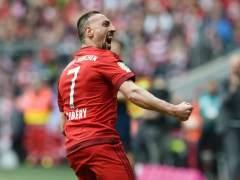 Franck Ribery celebrando el gol