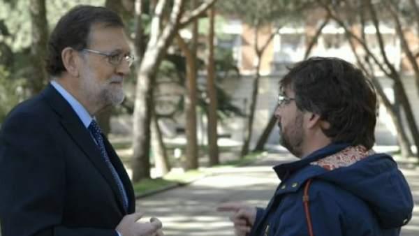 Rajoy y Jordi Évole