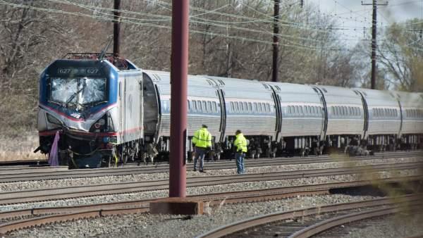 El tren de Amtrak que descarriló en Chester