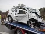 Accidente en la N-II en Girona