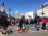 Manteros en la Puerta del Sol