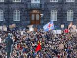 Protestas contra Sigmundur David Gunnlaugson