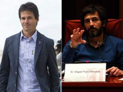 Alex Crivillé y Oleguer Pujol