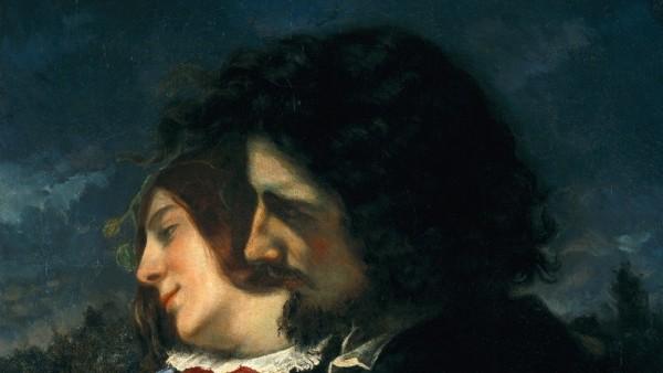 Gustave Courbet - Les Amants dans la campagne, sentiments du jeune âge, dit aussi Les Amants heureux, 1844