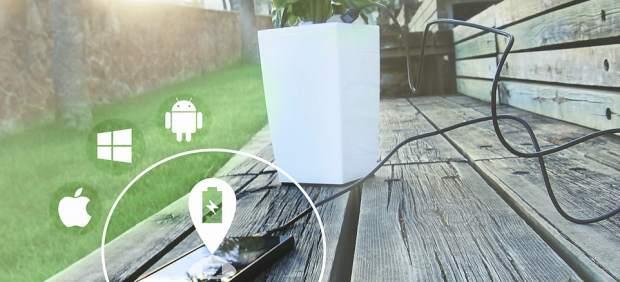 Así es la maceta capaz de recargar cualquier móvil varias veces al día