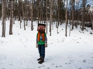 Jake as Minecraft Steve, 2013