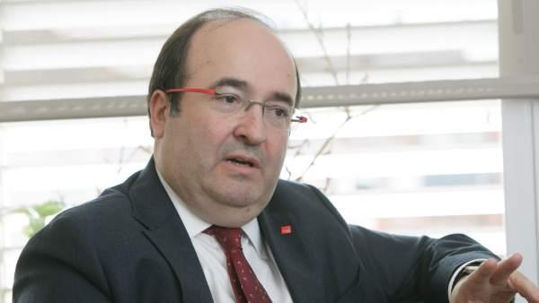 Entrevista 20 minutos a Miquel Iceta, primer secretario del PSC, en su despacho.