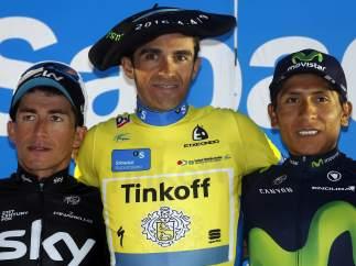 Podio de la Vuelta al País Vasco