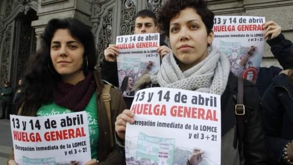 La secretaria general del Sindicato de Estudiantes, Ana García.