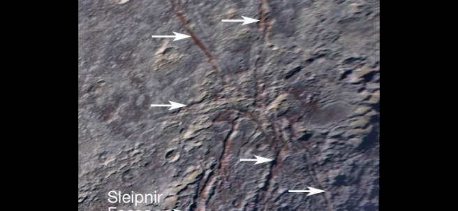 La 'araña' de Plutón