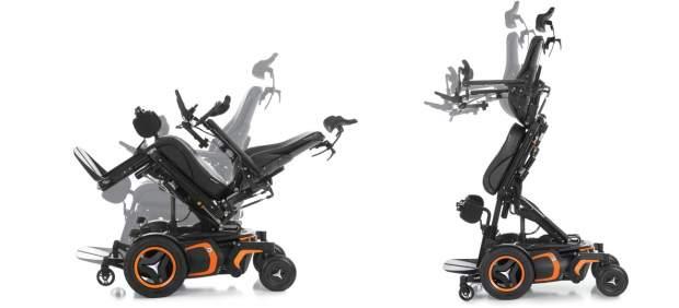 Las diferentes posiciones de una silla de ruedas eléctrica