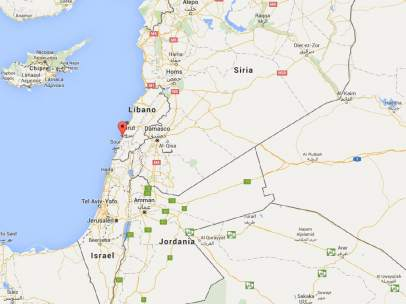 Coche bomba junto a un campo de refugiados palestinos a las afueras de Sidón, Líbano