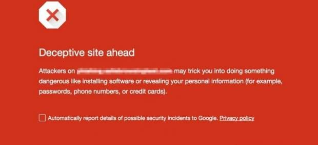 Google avisará con un 'pop-up' al entrar a sitios con riesgos de estafa o 'malware'