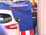 Zona acordonada por los mossos