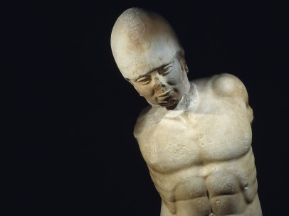 Marble statue of a warrior