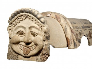 Terracotta roof ornament with head of a gorgon, Gela, Sicily, c.500 BC