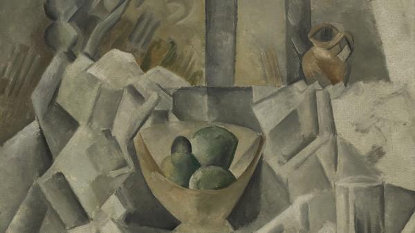Pablo Picasso - Garrafa, jarra y frutero (Carafon, pot et compotier), verano de 1909