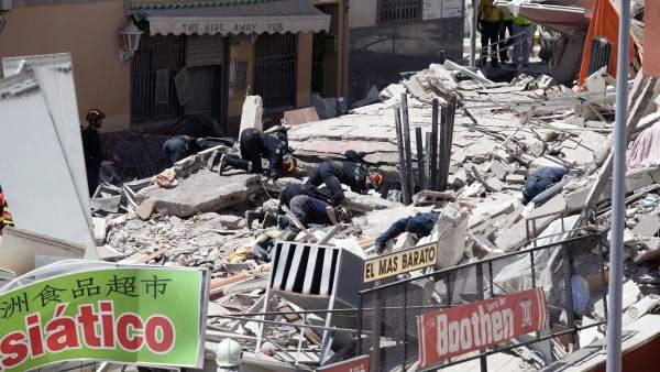 Derrumbe en Tenerife