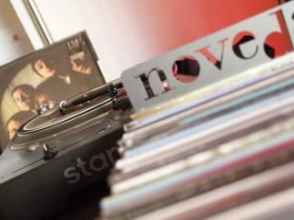 Tienda de discos de vinilo