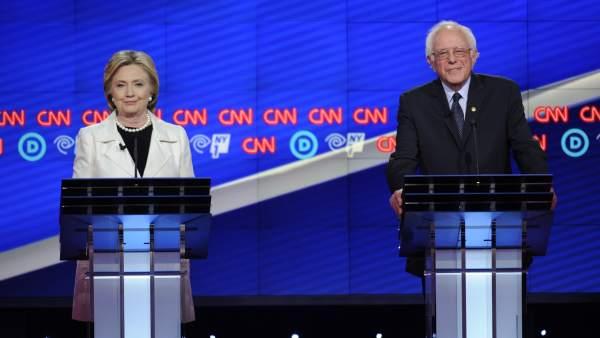 Debate demócrata Clinton y Sanders